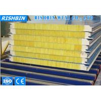 China Glass Wool Composite Sandwich Panel Sound Insulation Roll Forming Products on sale