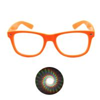 Quality Print your Logo Plastic Diffraction Glasses Spiral Rave Fireworks Glasses for sale