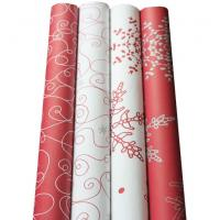 Buy cheap Printing gift wrapping paper roll 70x200cm 80gsm art paper customized printing from wholesalers