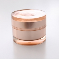 Quality Delicate Skin Care Round 44MM 5g Empty Plastic Cosmetic Cream Jars for sale