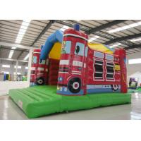 Quality 0.55mm Pvc Tarpaulin Indoor Inflatable Bounce House , Toddler Jump House Double Stitching for sale