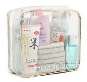 Quality Eco Friendly Plastic Makeup Bag , Clear PVC Makeup Organizer Bag OEM Accepted for sale