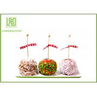 Quality Healthy Cake Ball Sticks 150 X 3.0mm , Logo Printed Personalized Wooden Candy Sticks for sale