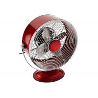 Quality Red 9 Inch Portable Vintage Electric Fan / Two Speed Air Circulator Retro Table Fan for sale