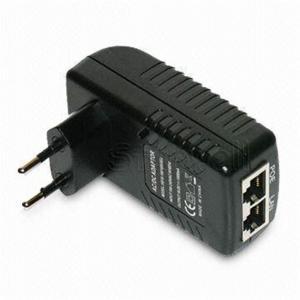 Quality Wall Mounted 48V 0.5A POE Adapter EU / US / plug 24W AC Power Adapter RJ45 for sale