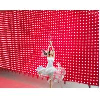 Quality stgae background curtain with leds for sale