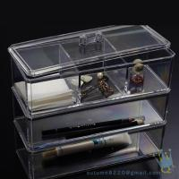 Quality acrylic clear cube makeup organizer for sale