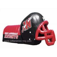Buy Adults Inflatable Sports Games Football Team Inflatable Football Helmet Tunnel at wholesale prices