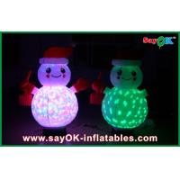 Quality Christmas Inflatable Lighting Decoration Inflatable Snowman With Controller for sale