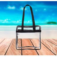 Quality Clear PVC Tote Bag Security Zippered Shoulder Bag With Adjustable Shoulder Strap for sale