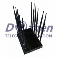Quality 12-band Jammer Cell Phone GSM CDMA 3G 4G WIFI GPS VHF,UHF and Lojack for sale