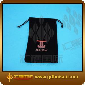 Quality black velvet string bag for sale