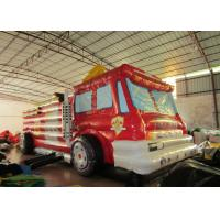 Quality Giant Inflatable Assault Course 9.1 X 3.1 X 4m  , Inflatable Fire Truck Bouncy Assault Course for sale
