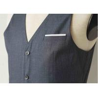 Buy cheap Big Stripe Mens Three Piece Suit , Grey Wool Three Piece Suit Anti - Wrinkle from wholesalers
