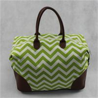 Durable Custom Made Canvas Bags / Canvas Travel Tote Bag With Zipper , PU Bottom