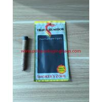 Quality Re - Sealable Zipper Moisturizing Cigar Humidor Bags With Printed Logo for sale