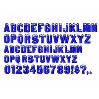 Quality Custom Embroidery fonts Igloo Laser96 design DST Formats for sale