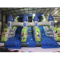 Quality Disney Cartoons Commercial Inflatable Water Slides Fun Castle Mickey Painting High Standard for sale