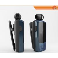 Quality Clear sound Small V2.1+ EDR Retractable Bluetooth Headset, smart phone Clip earpiece for sale