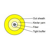 Quality Yellow Simplex Tight Buffered Fiber Optic Cable for Patch Cord and Pigtails for sale