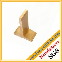 China solid copper alloy sanitary parts extrusion profile section brass Tees profiles on sale