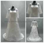 Quality Aline Square Neck Straps Zipper Lace Wedding Dress #LT2230 for sale