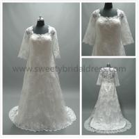 Buy cheap Aline Square Neck Straps Zipper Lace Wedding Dress #LT2230 from wholesalers