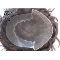 Quality French Lace Front Real Hair Hair Piece / Natural Hair Toupee For Men Invisible for sale