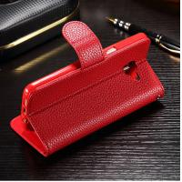 Quality Colored Samsung J7 Prime Leather Case , Stitching Personalised Leather Phone Case for sale