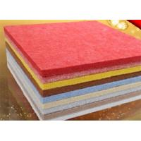 Quality 9 mm Thickness Red Polyester Fiber Acoustic Panels For Cinema OEM for sale