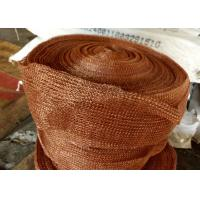 Quality Standard SP Copper Knitted Wire Mesh For Corrosion Resistant Filter Pad for sale