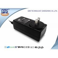 Quality Black 2 Flat Prong 36W AC DC Power Adapter With 1.5m Cable , 87.4% Efficiency for sale