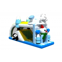 China Animals Theme Ice And Snow 4x7.5x4.2m Inflatable Obstacle Courses on sale