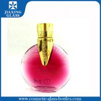 China New Luxury Perfume Glass Bottles Round Shape With Roll On Plastic Cap on sale