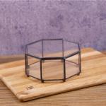 Quality Black Frame Glass Jewellery Storage Box Dustproof Makeup Storage Box for sale
