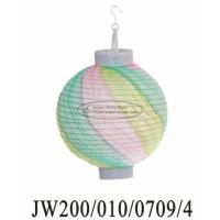 China Multicolor Twist Party Paper Lanterns on sale