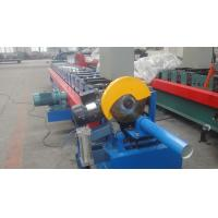Custom Light Pipe Downspout Roll Forming Machine , Board Cold Roll Forming Machine , Rain Pipe Forming Machine