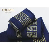 Quality Luxury Hotel Bath Towels16s Blue Color Hotel Collection Towels for sale