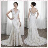 Quality CAPE Sleeves Lace wedding dress #5MS015 for sale