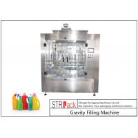 Touch Screen Control Automatic Liquid Filling Machine , Time Gravity Liquid Filling Equipment