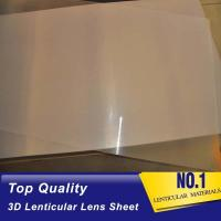 Quality Hot Sales Factory Price 100 lpi 3D Plastic Lenticular Lens Sheet with Adhesive for 3D Lenticular Advertising Poster for sale