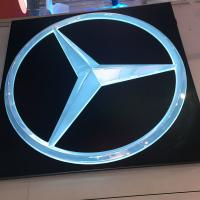 China Attractive Frontlit outdoor Benz-Mercedes 4 s car dealership outdoor logo signs on sale