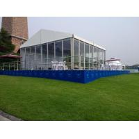 High Quality Waterproof 10x15m Mobile Wedding Party Glass Wall Tents In China for sale