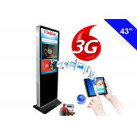 China Indoor 3G Digital Signage Wifi Free Standing Kiosk LCD Advertising Screen on sale