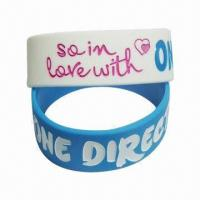 Buy cheap Silicone Wristband in Fashionable Style, Customized Designs Accepted, Various from wholesalers