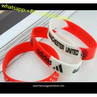 Quality 100% Non-toxic OEM silicone wristband merry christmas silicone bracelets for sale