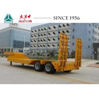 Quality 20 To 50 Tons 2 Axles Lowboy Trailer With Hydraulic Ramp Tires exposed Type for sale