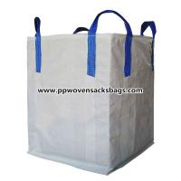 Quality Eco-friendly Recycled 1 Ton s Big FIBC Bulk Bags , PP Woven Box Bags for Packing Chemical for sale