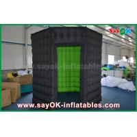 White / Black Octagon Inflatable Photo Booth With Strong Wind Resistant 16 kg