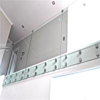 China Frameless Standoff Stainless Steel Glass Railing Baluster Constrcution Usage on sale